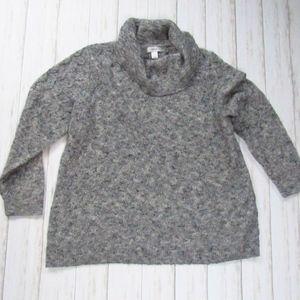 CJ Banks Heather Gray Cowl Neck Sweater 2X